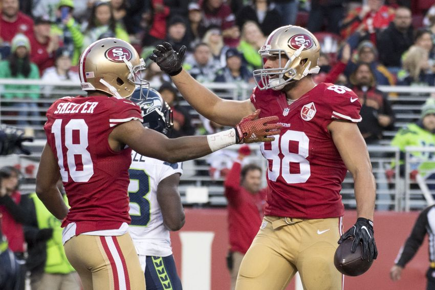 January 1, 2017; Santa Clara, CA, USA; San Francisco 49ers Tight