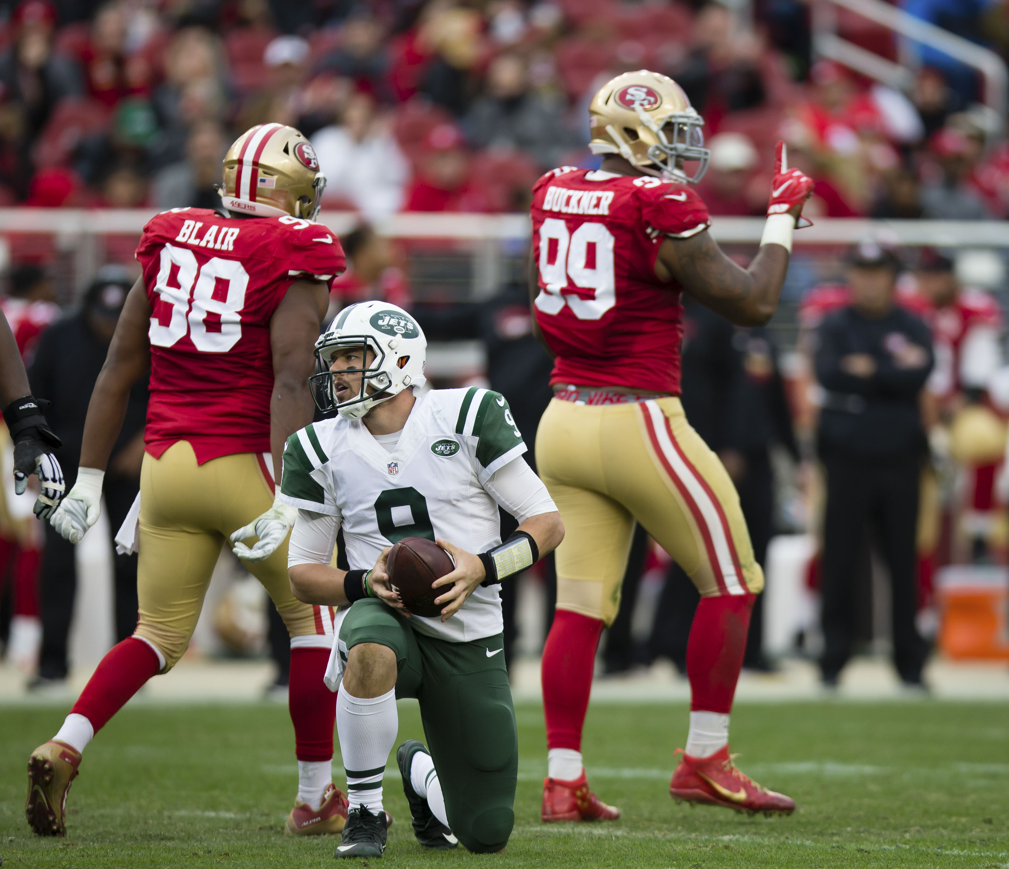 49ers 2017 nfl draft positional preview defensive line dec 11 2016 santa clara ca usa new york jets quarterback bryce petty 9 after being sacked by san francisco 49ers defensive end deforest buckner 99 voltagebd Gallery